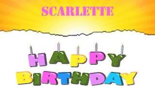 Scarlette   Wishes & Mensajes - Happy Birthday