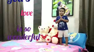GOD'S LOVE IS SO WONDERFUL | First Prayer Song for kids
