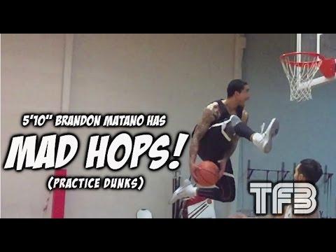 "5'10"" Brandon Matano expanding his Dunk Arsenal (Practice Dunks)   Dunk of the Day"