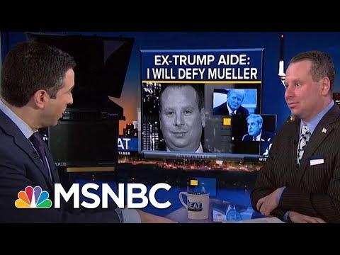 Watch Ex-Trump Aide Sam Nunberg Get Cross-Examined | The Beat With Ari Melber | MSNBC