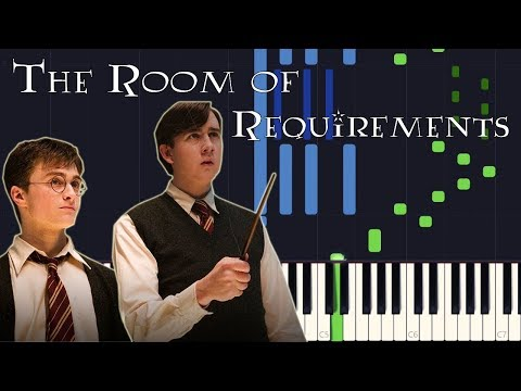 Synthesia - The Room of Requirements (Harry Potter 5) [PIANO TUTORIAL + SHEET MUSIC]