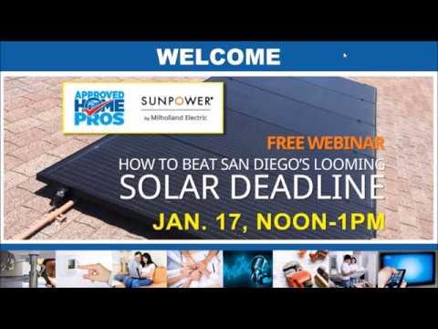 How To Beat San Diego's Looming Solar Deadline Webinar