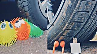 Car vs ear pods & crushing crunchy things