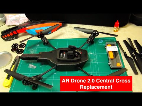 (in full) - Parrot AR Drone 2.0 - How To Remove & Replace th