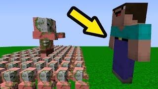 МОД НА НУБ против 1000 КЛОНОВ НУБОВ свинозомби - Троллинг НУБА в Minecraft Серия 01