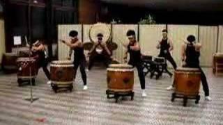 Japanese drum team of Tamagawa University in Tokyo, Japan.