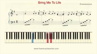 "How To Play Piano: Evanescence ""Bring Me To Life"" Piano Tutorial by Ramin Yousefi"