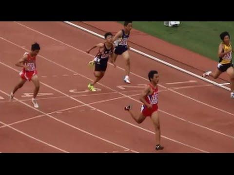 ... 陸上2015 1年男子100m決勝 - YouTube