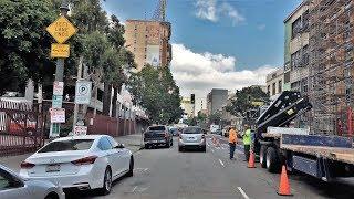 Driving Downtown - LA's Historic Center - Los Angeles California USA thumbnail