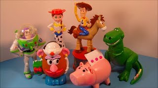 1999 Disney's Toy Story 2 Set Of 6 Candy Dispensers Mcdonald's Happy Meal Kid's Toy's Video Review