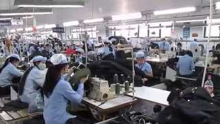 DUX GIANG FACTORY  THE JACKET SEWING FACTORY  THERE ARE 3 FACTORIES LIKE THIS BELONG TO DUC GIANG SU