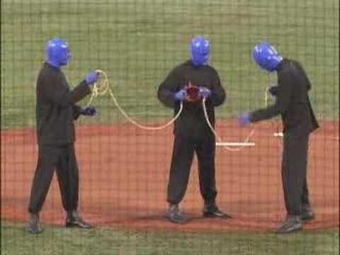 Blue Man Group @ First-Pitch Ceremony