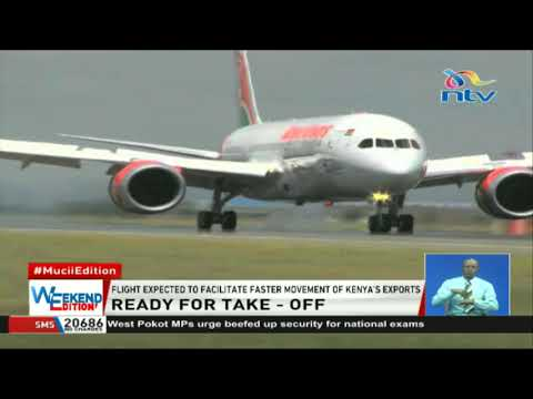 KQ's Boeing 787-8 aircraft  ready for take off to New York