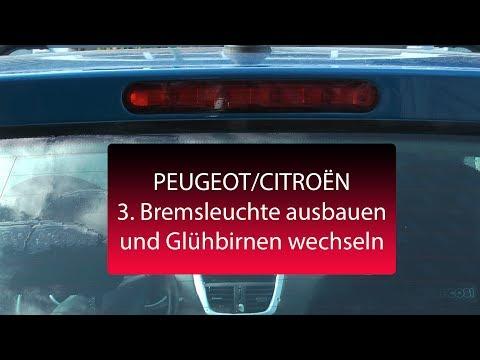 PEUGEOT CITROËN - Dritte Bremsleuchte ausbauen reparieren