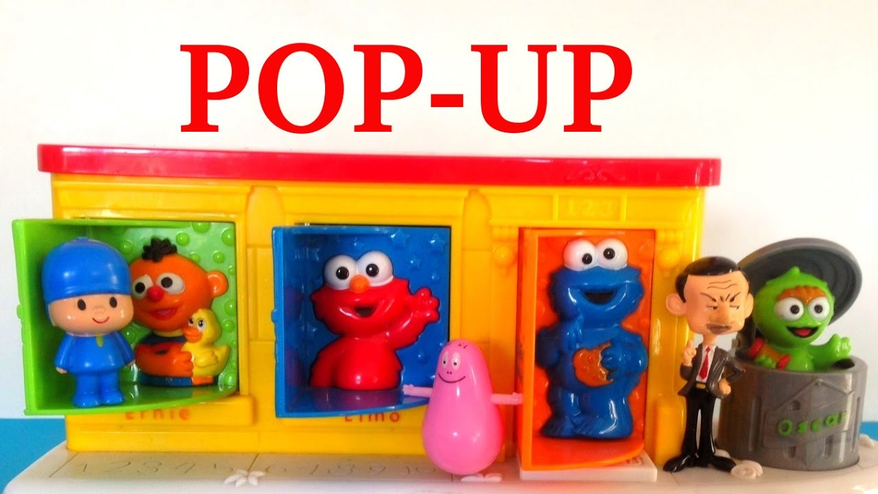 Toys That Pop Up : Sesame street pop up pals surprise baby toys youtube