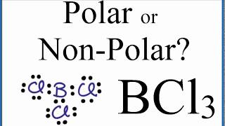 Is Bcl3 Polar Or Non Polar Boron Trichloride Youtube