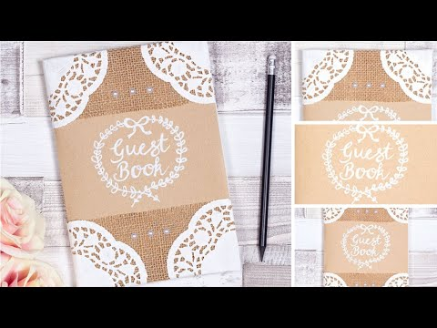 How to make a wedding guest book