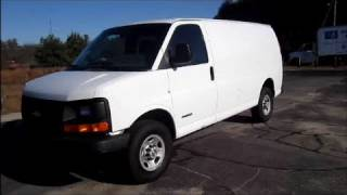 2006 Chevrolet Express Cargo Van 3500 Start Up, Engine & In Depth Tour