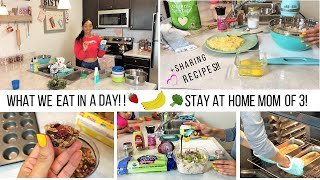 WHAT WE EAT IN A DAY! // STAY AT HOME MOM OF 3 VLOG // Jessica Tull