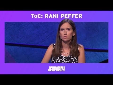 Jeopardy! Tournament of Champions: Rani Peffer