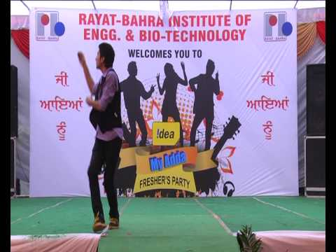 my 1st live performance.... On Tujhe Bhula Diya inspired by Croacroaz{Raghav Juyal}