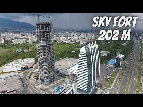 Sky Fort Bulgaria - The Tallest Building in Sofia Bulgaria and the Balkans -202 Meters !