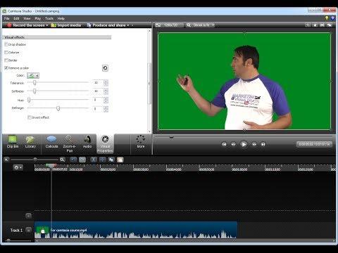 How to green screen using Camtasia Studio 8 chroma key tool