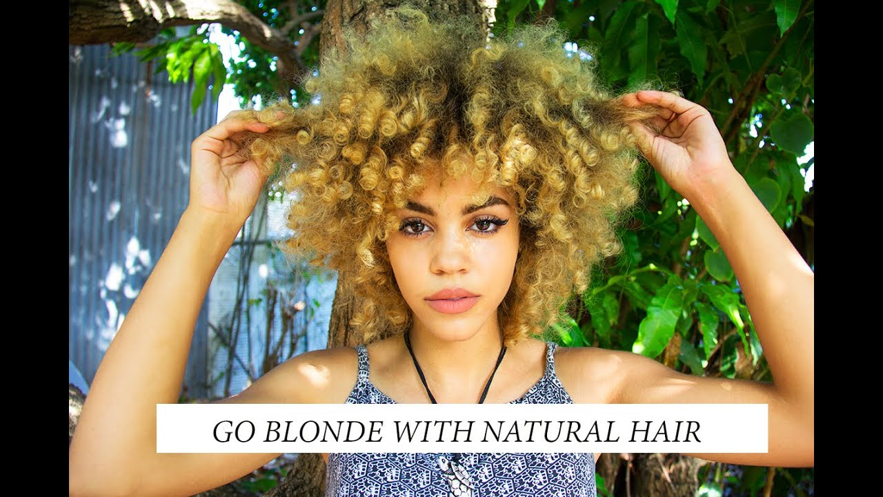 How To Go Blonde Fast With Natural Hair No Damage My