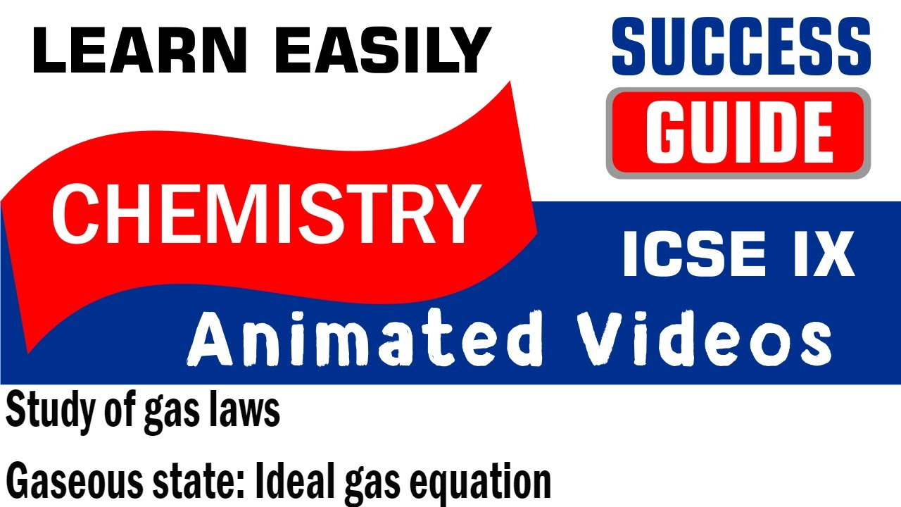 icse class ix chemistry study of gas laws 2 gaseous state ideal rh youtube com Gas Laws Cheat Sheet ap chemistry gas laws study guide