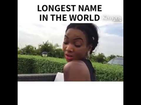 funny//she has the longest name in the world