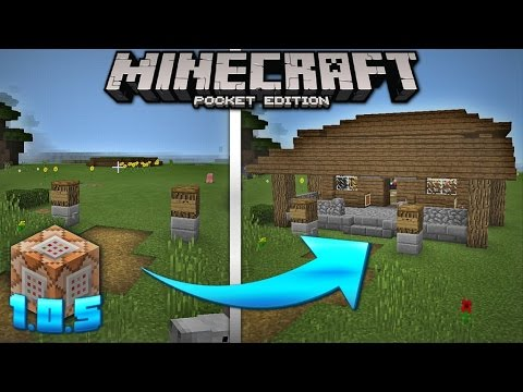 Self building House in MCPE 1 1 - with Command Blocks Creation (Minecraft  Pocket Edition 1 1)