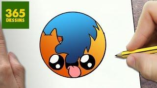 Comment Dessiner Logo Firefox Kawaii étape Par étape