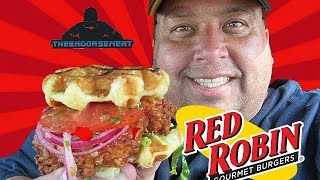 Red Robin® The Bee's Knees Chicken and Waffles Sandwich Review with The Endorsement!