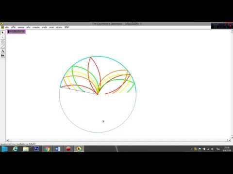 การสร้างรูปดอกไม้ไว้ในวงกลม โดย โปรแกรมGSP