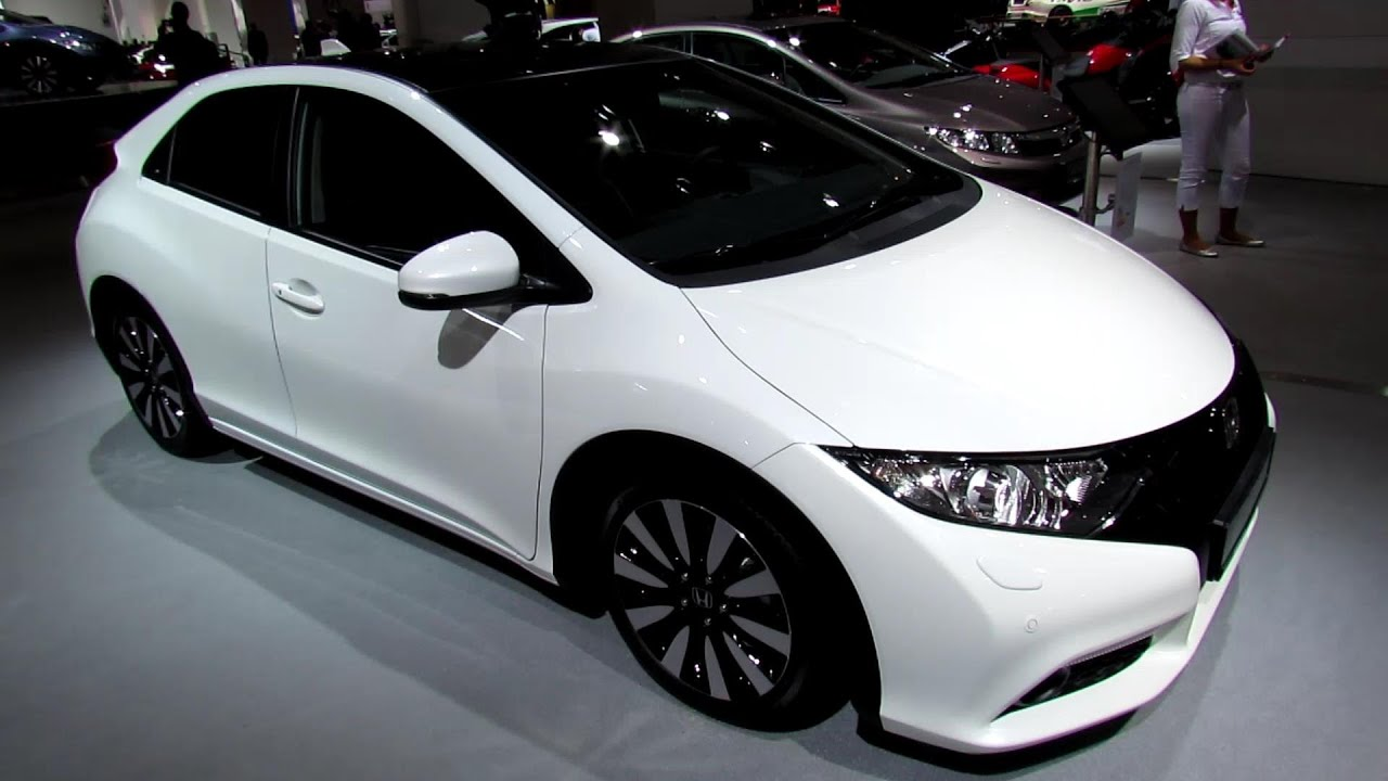 Hyundai Elantra Coupe >> 2014 Honda Civic Exclusive - Exterior and Interior Walkaround - 2013 Frankfurt Motor Show - YouTube