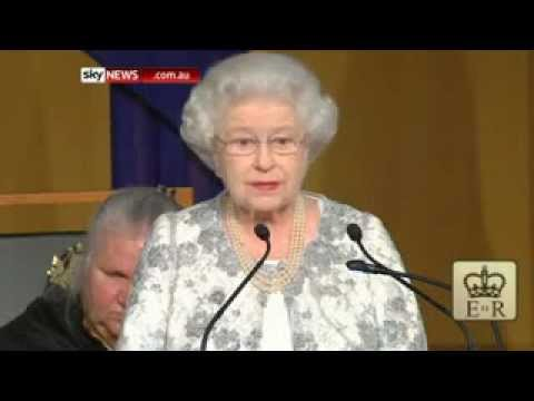 Queen addresses nation from Parliament House, Canberra 21 October  2011