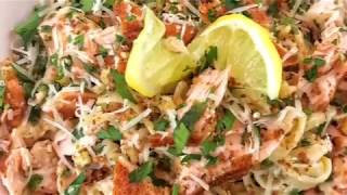 The Best Quick and easy Salmon and Shrimp Pasta