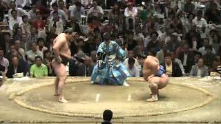 平成25年秋場所12日目 菊は白に勝てないねぇ sumo 大相撲.