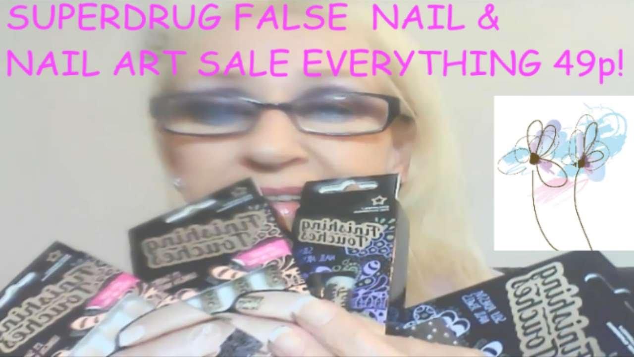Superdrug False Nail Nail Art Amazing Sale Youtube