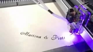 Лазерная гравировка и вырезка свадебного символа