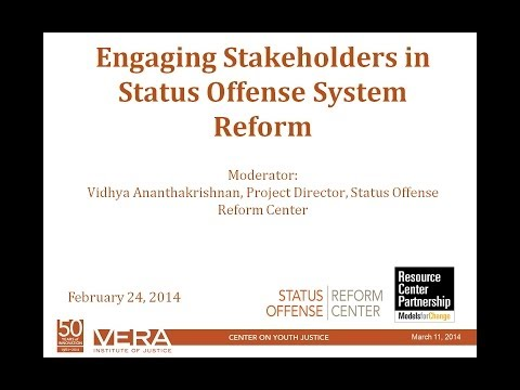 Engaging Stakeholders in Status Offense Reform