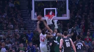 <b>Jarrett Allen</b> Blocks Giannis Antetokounmpo vs. Bucks [29.12.18.]