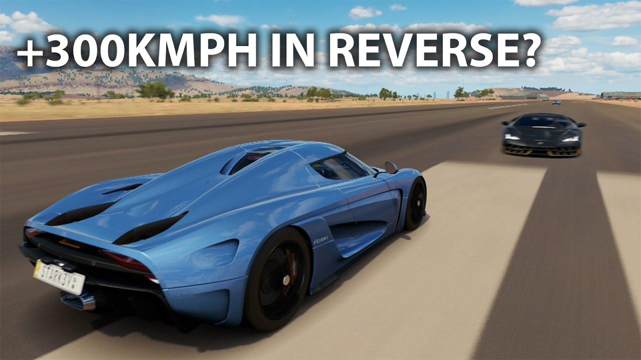Forza Horizon 3: FASTEST EVER REVERSE TOP SPEED? Koenigsegg REGERA ...