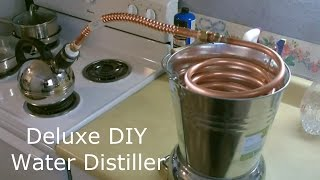 "Homemade Water Distiller! - The Deluxe DIY ""pure water"" Water Distiller! Full Instructions"