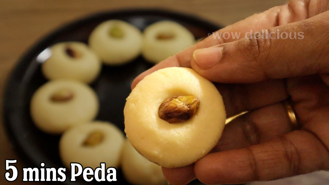 Instant Doodh Peda Recipe in 5 Minutes | Milk Peda Recipe | Peda Recipe Only 4 Ingredients | Palkova