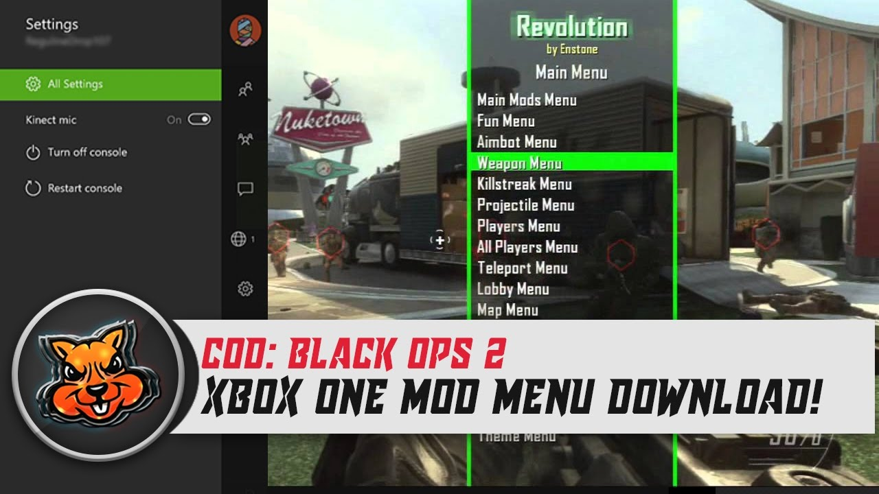 Black Ops 2 Mod Menu Xbox One Download! (Xbox One Modding)