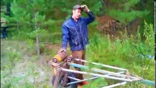 самодельная телега для вывозки бревен