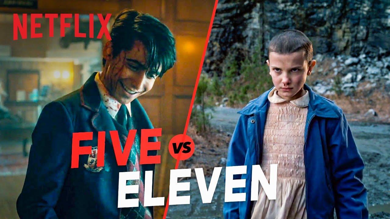 Download Five vs. Eleven | The Umbrella Academy & Stranger Things Kid Showdown | Netflix