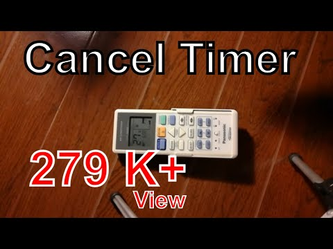 How to cancel timer | Panasonic ductless split air