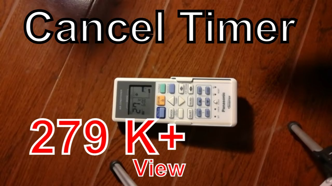 How to cancel timer | Panasonic ductless split air conditioner remote  controller